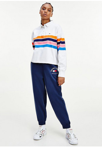 Tommy Jeans Womens Relaxed Fit Joggers, Navy