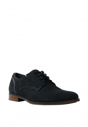 Tommy Hilfiger Mens Panelled Suede Oxford Shoes, Navy