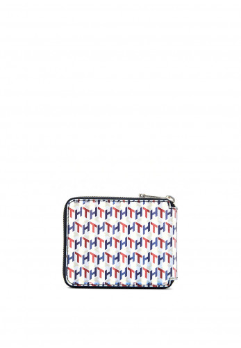 Tommy Hilfiger Small Zip Around Iconic Holographic Wallet