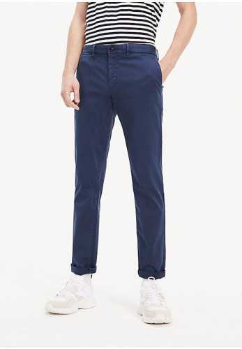 Tommy Hilfiger Denton TH Flex Satin Chino's, Moonlight Ocean