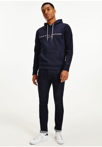 Tommy Hilfiger Core Tommy Logo Hoodie, Sky Captain