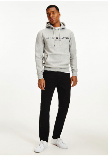 Tommy Hilfiger Core Tommy Logo Hoodie, Cloud Heather