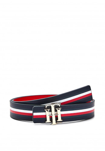 Tommy Hilfiger Womens Reversible Leather Belt, Navy & Red