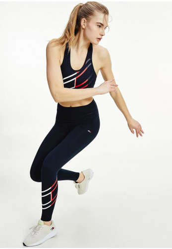 Tommy Hilfiger Womens Relaxed Flag Graphic Leggings, Navy