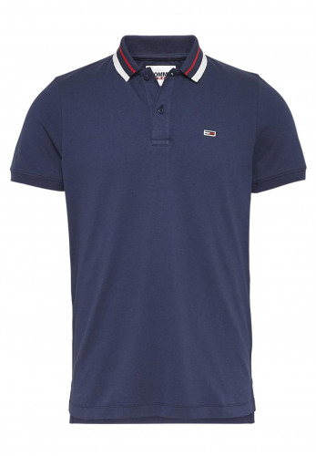 Tommy Jeans Classic Tipped Polo Shirt, Navy