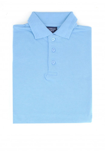 Trampass Kids School Polo Shirt, Blue