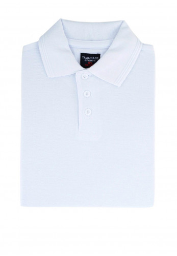 Trampass Kids School Polo Shirt, White