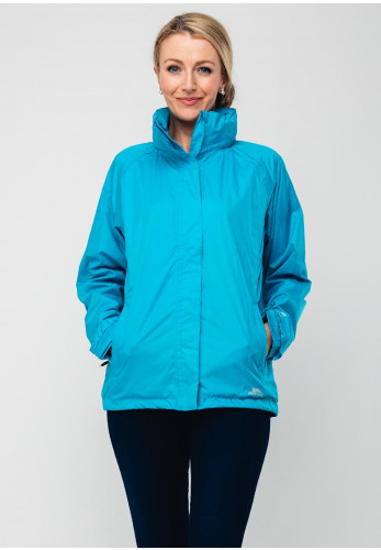 Trespass Waterproof Hooded Jacket, Bermuda Blue