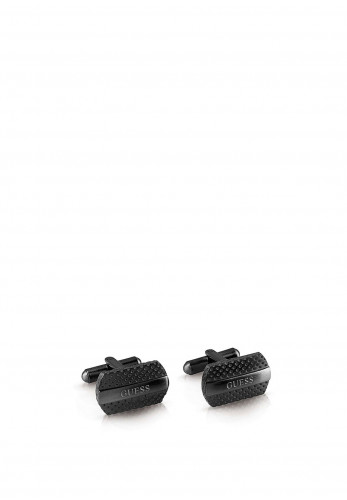 Guess Perforated Cufflinks, Black