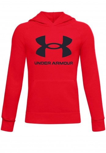 Under Armour Boys Fleece Logo Hoodie, Red