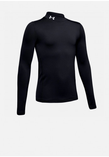 Under Armour Boys Cold Gear Mock Neck Top, Black