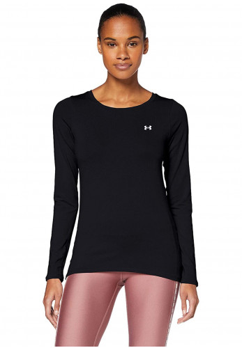 Under Armour Womens Fitted HeatGear® Long Sleeve Top, Black