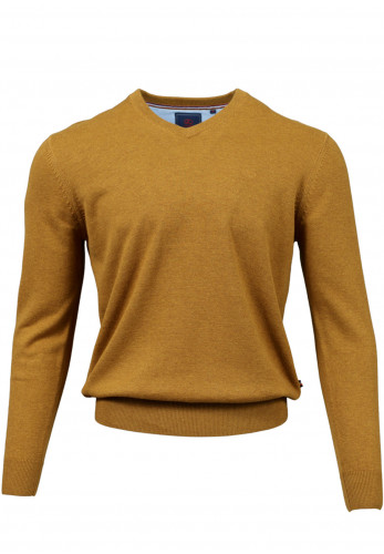 Andre Valencia Cotton V-Neck Sweater, Amber