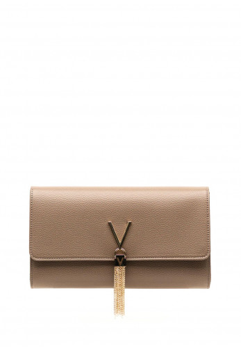 Valentino By Mario Divina Textured Clutch Bag, Taupe