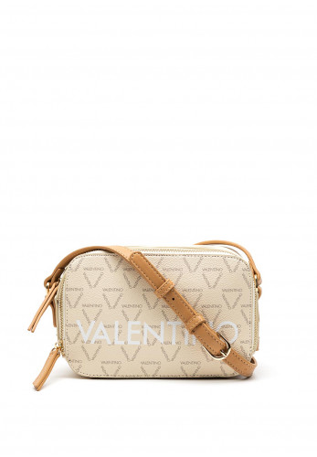 Valentino By Mario Liuto Small Crossbody Bag, Cream & Tan