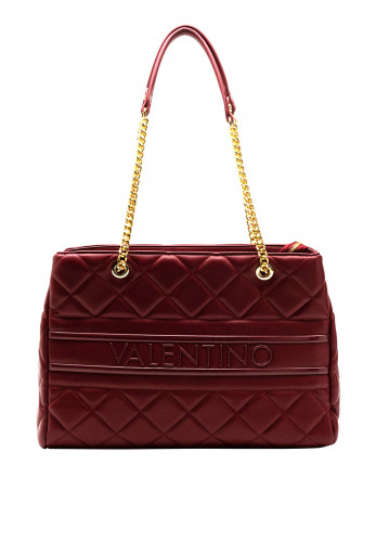 Valentino Handbags Ada Large Quilted Tote Bag, Bordeaux