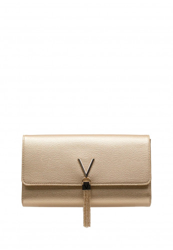 Valentino By Mario Divina Textured Clutch Bag, Gold