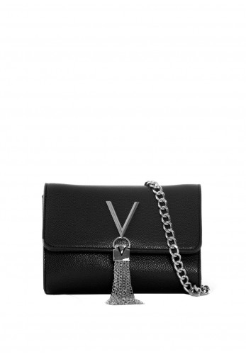 Valentino By Mario Divina Box Flap Over Bag, Black