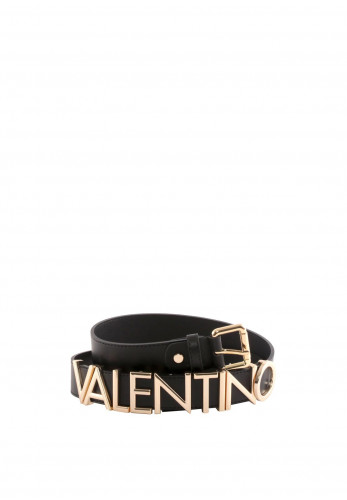 Valentino By Mario Emma Logo Belt, Black