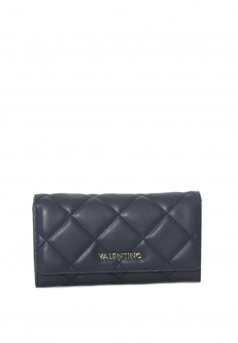 Valentino By Mario Ocarina Quilted Flapover Purse, Blue