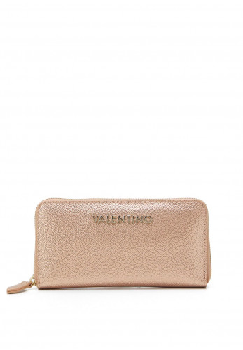 Valentino By Mario Divina Zip Around Purse, Rose Gold