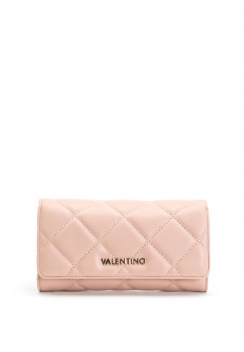 Valentino By Mario Ocarina Quilted Flapover Purse, Pink
