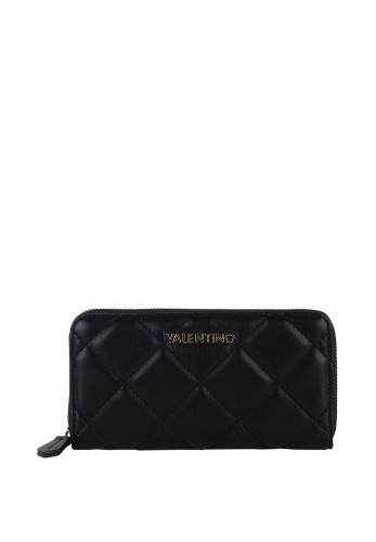 Valentino By Mario Ocarina Quilted Zip Around Purse, Black