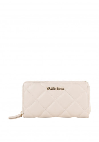 Valentino By Mario Ocarina Quilted Zip Around Purse, Stone