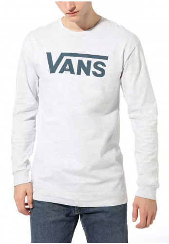 Vans Mens Classic Crew Neck Long Sleeved T-Shirt, Grey