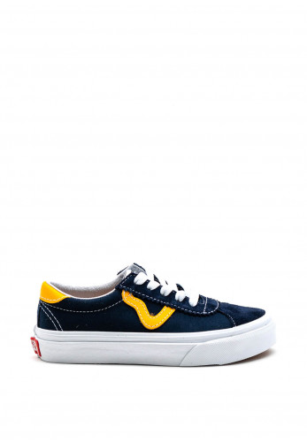 Vans Kids Off the Wall Trainers, Navy & Amber
