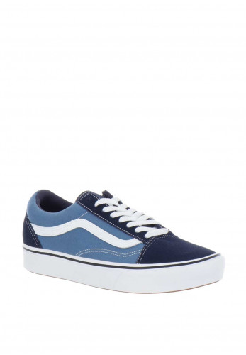 Vans Canvas Comfy Cush Old Skool Trainers, Blue