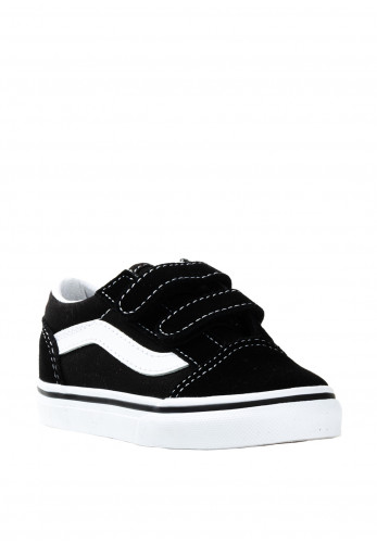 Vans Baby Old Skool Velcro Contrast Trainers, Black