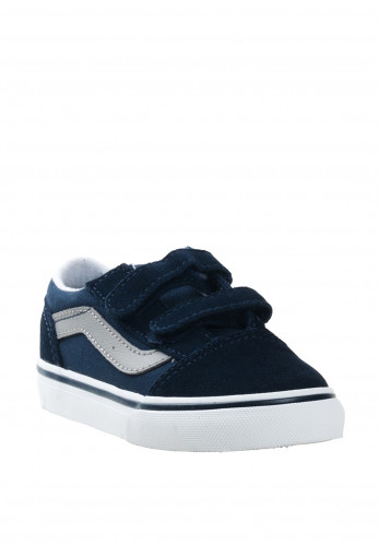 Vans Baby Girls Old Skool Canvas Trainers, Navy