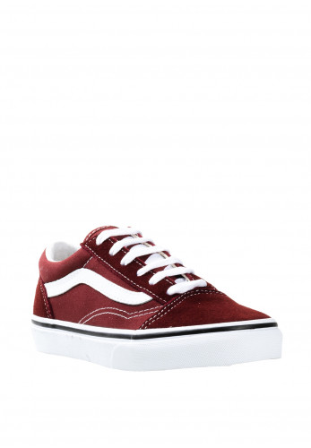 Vans Kids Old Skool Suede Contrast Trainers, Wine