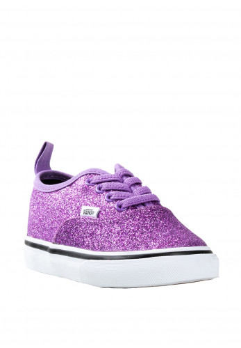 Vans Baby Girls Glitter Lace up Trainers, Purple
