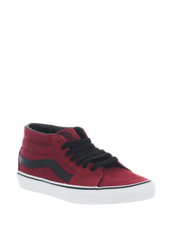 Vans Mens Sk8 Mid Trainers, Red