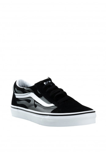 Vans Boys Old Skool Flame Suede Contrast Trainers, Black