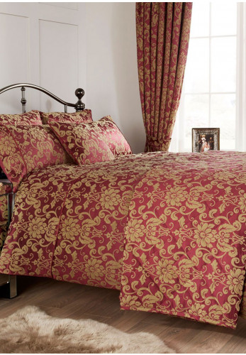 Vantona Home Jacquard Como Berry Duvet Cover Set, Berry