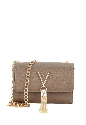 Valentino By Mario Divina Box Flap Over Bag, Taupe