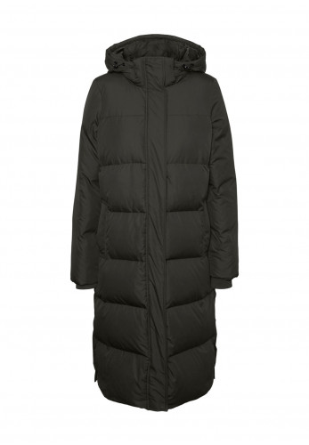 Vero Moda Erica Down & Feather Padded Quilted Coat, Peat