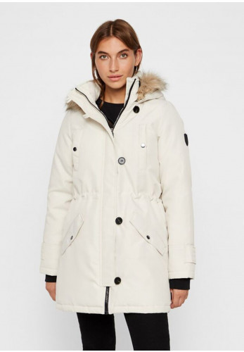 Vero Moda Excursion Padded Parka Coat, Cream