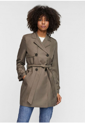 Vero Moda Celeste Belted Trench Coat, Taupe