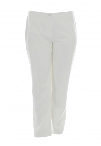 Via Veneto Straight Leg Trousers, White