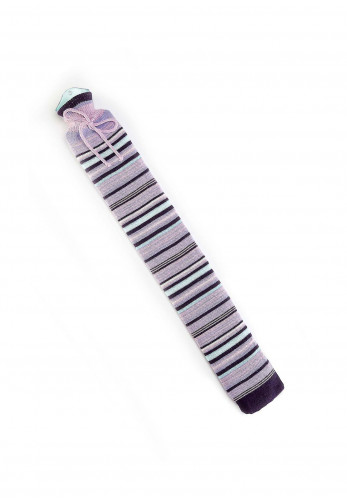 Warmies Extra Long Hot Water Bottle with Knitted Cover, Purple Stripes