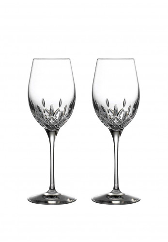 Waterford Crystal Lismore Essence White Wine Set of 2 Glasses