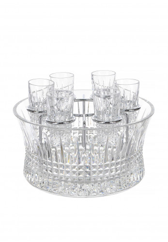 Waterford Crystal Lismore Diamond Set with 6 Shot Glasses