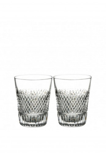 Waterford Crystal Diamond Line Set of 2 Whiskey Glasses