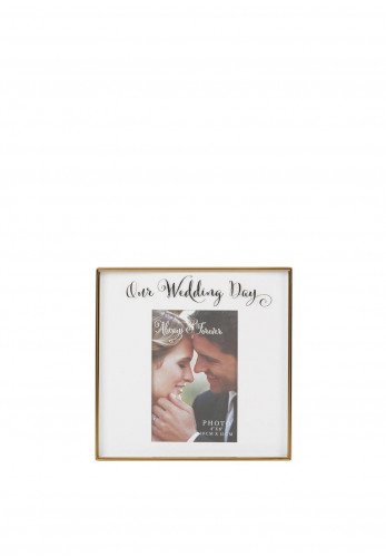 "Wedding Day 4"" x 6"" Gold Photoframe"