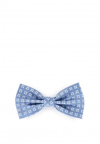 Weise Boys Polka Dot Embossed Bow Tie, Blue