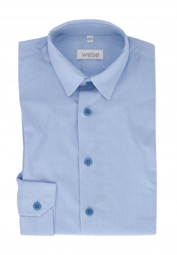 Weise Boys Embossed Cotton Shirt, Blue